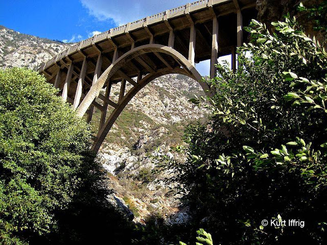 In 1936 a great flood wiped out the road that connected to this bridge and left it stranded.