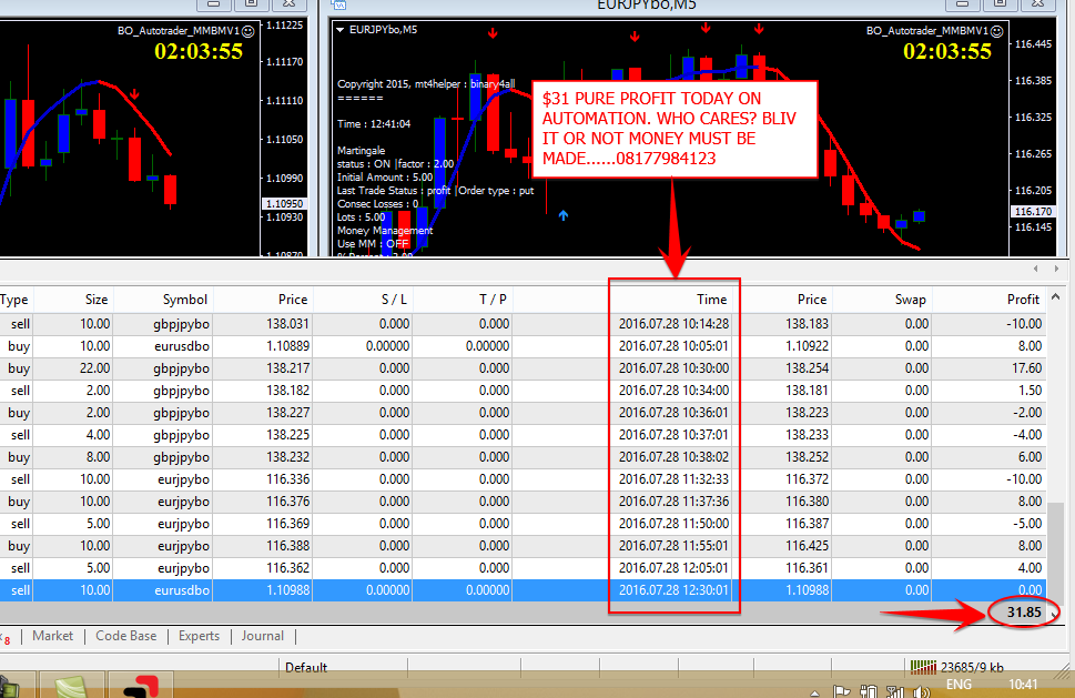Binary option plugin