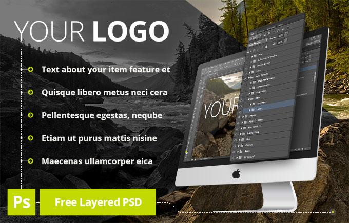 Free PSD iMac Mock-Up