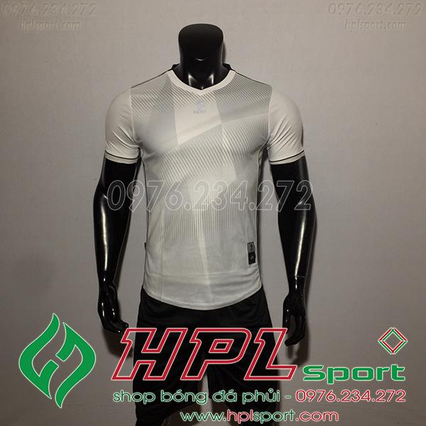 Áo bóng đá không logo Egan CaC màu trắng