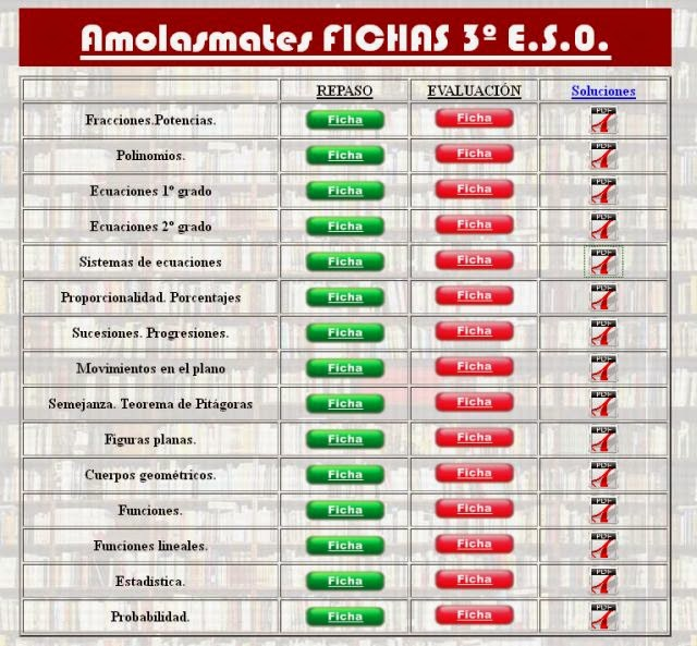 http://www.amolasmates.es/tercero%20eso/fichas_3ESO_cidead.html