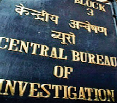 Display Board of Central Bureau of Investigation, India