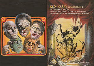 Collection of Ghouls trading card from Ken Kelly 2 set