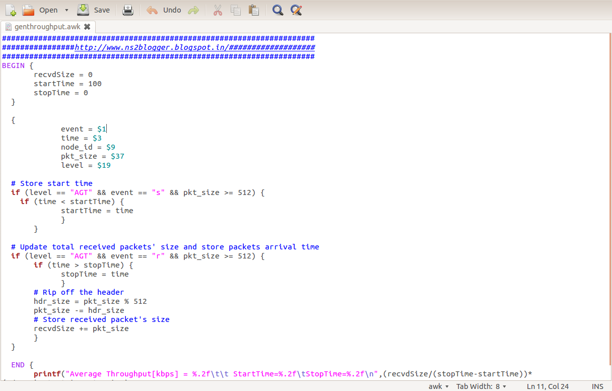 NETWORK SIMULATOR 19.19: AWK AND PERL SCRIPTING ON NS19 WITH SCRIPTS