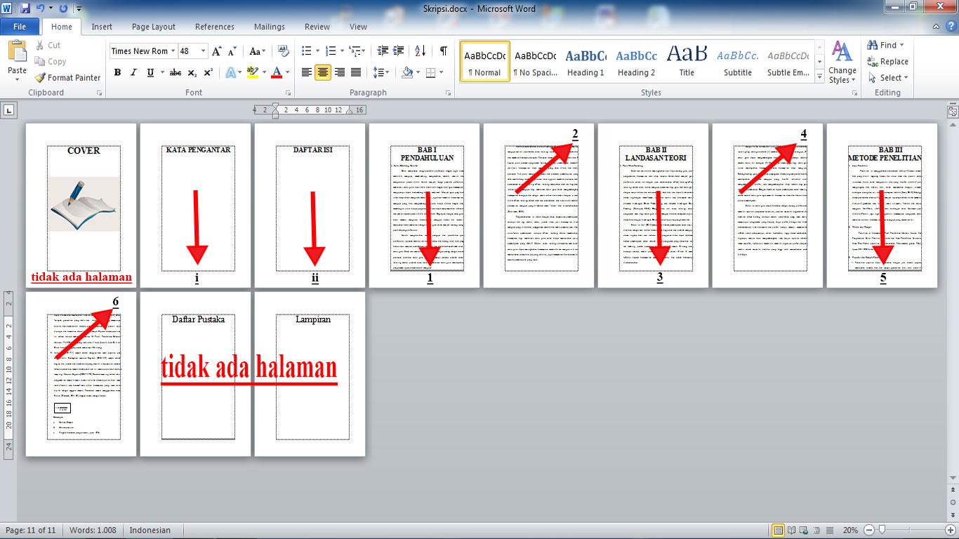 Cara Membuat Nomor Page Number Dan Mengatur Posisi Yang Berbeda Di Ms Word 2010 Kijang Jantan