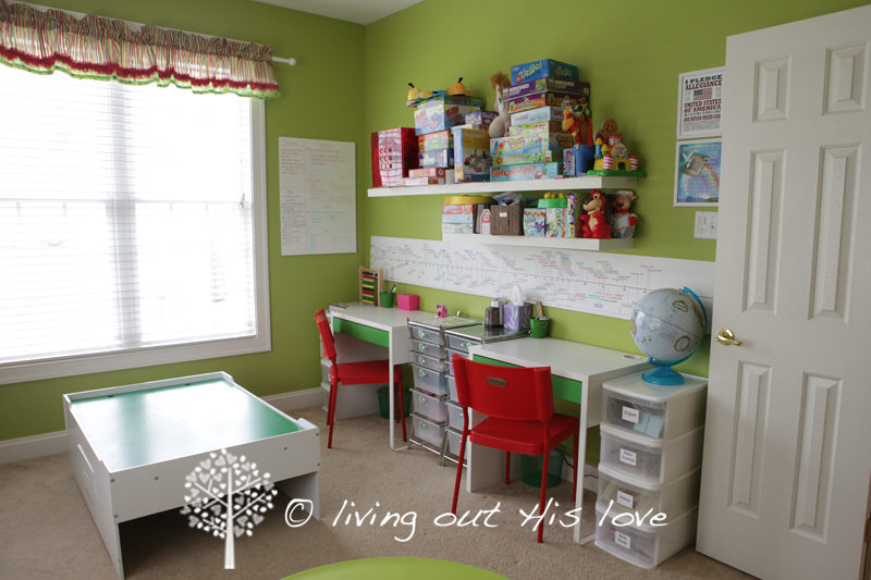 living out his love our homeschool room  homeschool desks for sale
