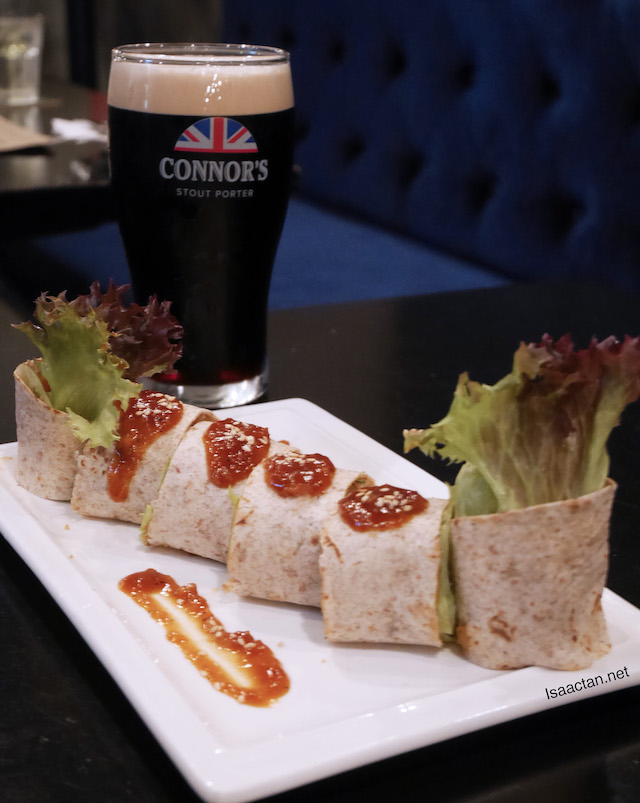Fish Popiah Wrap with CONNOR'S Infused Dipping Sauce with 1 full pint of CONNOR'S Stout Porter – RM32++