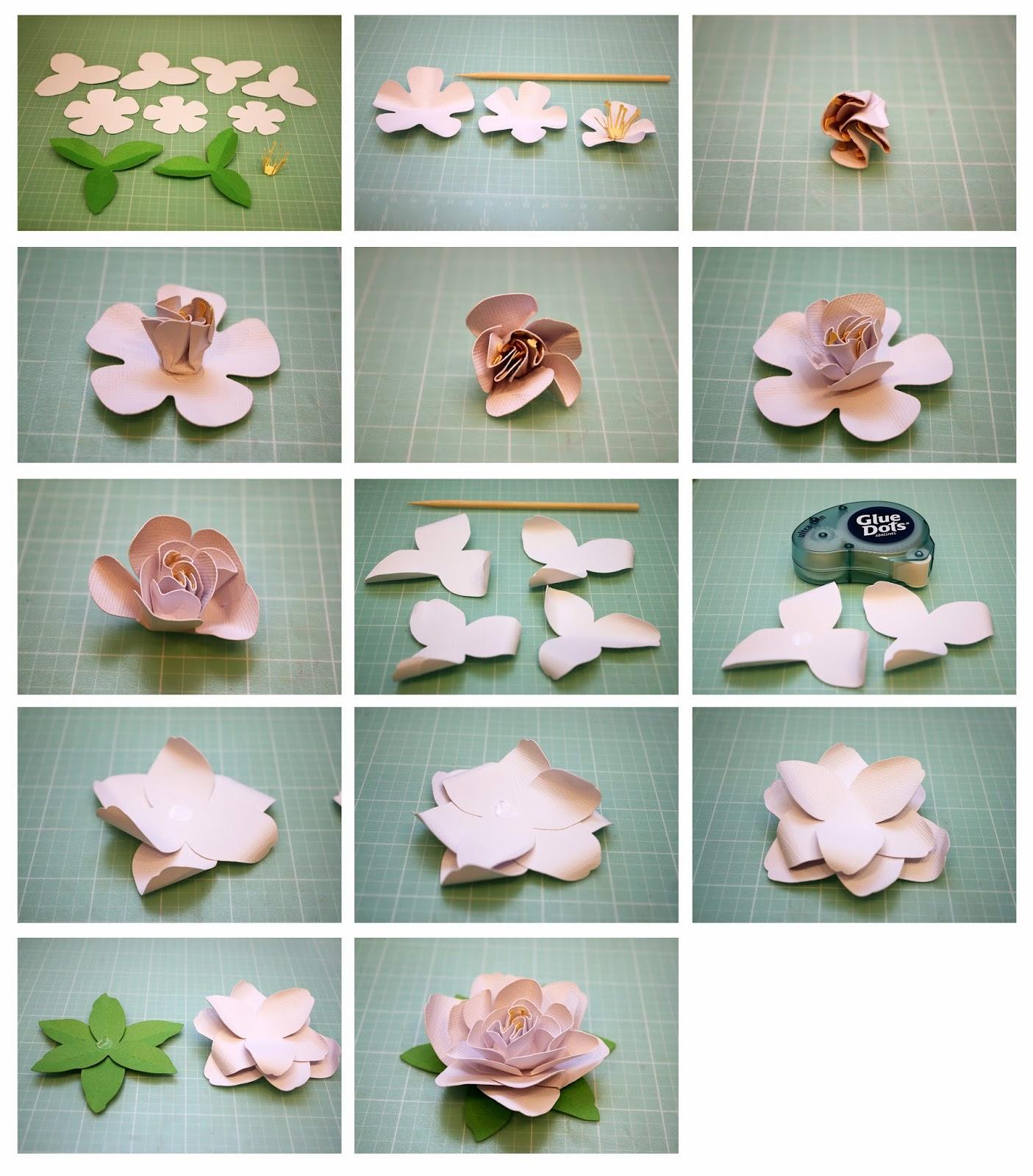 Изготовление цветов для украшения открыток