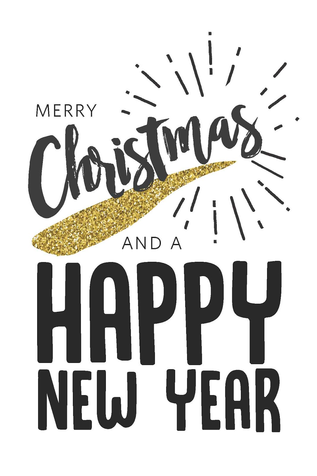 Merry Christmas, Happy New Year Card
