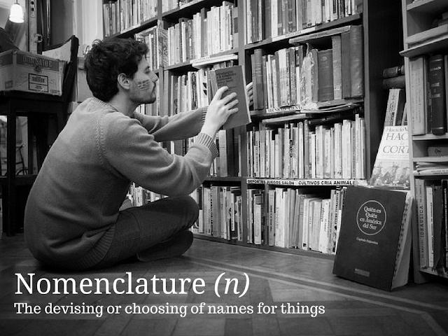 Nomenclature - Wednesday Words