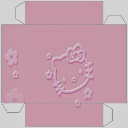 Cajas para Fiesta de Hello Kitty para Imprimir Gratis.
