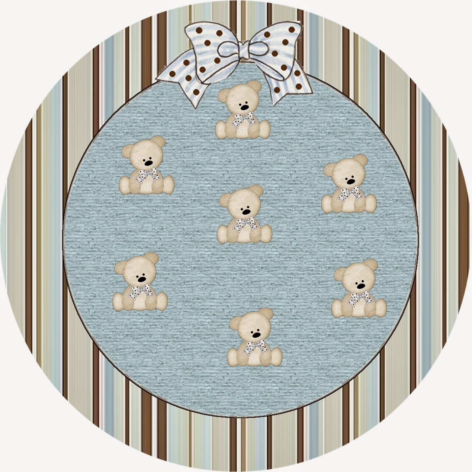 Teddy Bear Family Free Printable Candy Bar Labels