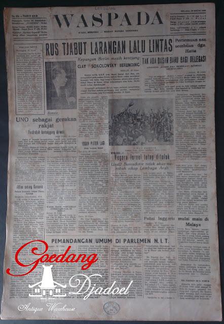 KORAN MEDAN WASPADA TAHUN 1948