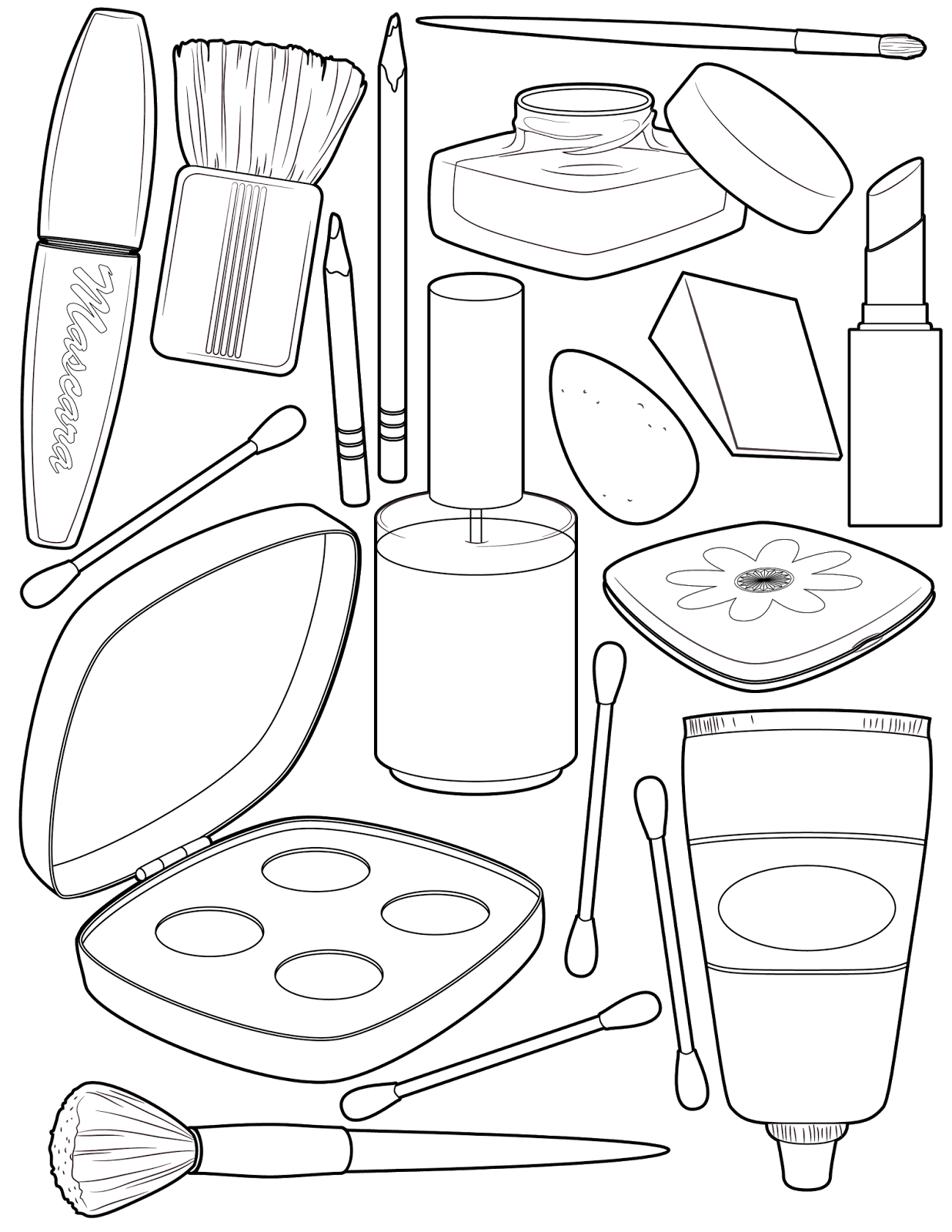 The Spinsterhood Diaries It S Friday Makeup Coloring Page