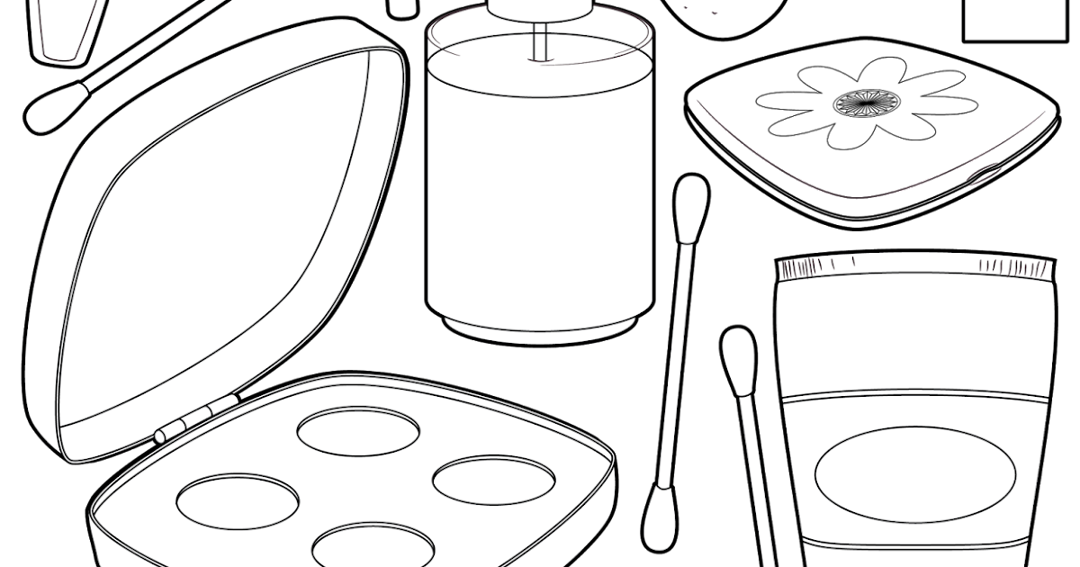 The Spinsterhood Diaries: It's Friday! Makeup Coloring Page