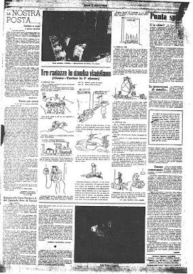 """La pag. 4 del numero 2 del 2° anno (Febbario 1945) di """"Donne in Grigioverde"""", il giornale del SAF"""