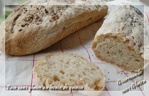 Pain sans gluten au levain de quinoa