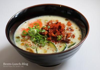 Rezept: Shirogoma Ramen, Sojamilchramen mit Sesam und Erdnuss