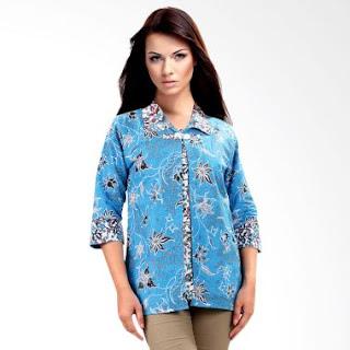 Gambar Model Baju Batik Kerja Kombinasi