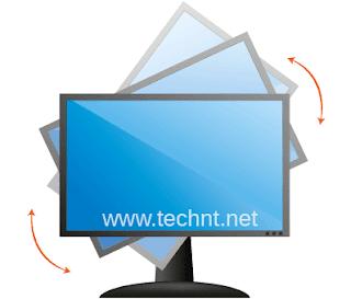 طريقة حل لمشكلة شاشة الويندوز المقلوبة °90 أو °180 - التقنية نت - technt.net