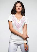 Bluză prevăzut cu șnur decorativ (bonprix)