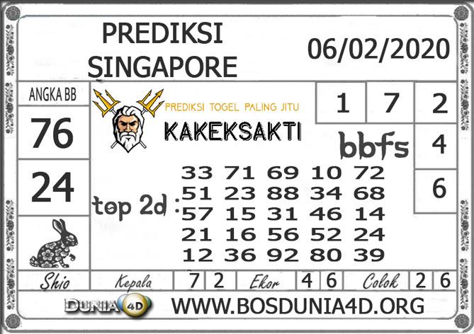 PREDIKSI TOGEL SINGAPORE DUNIA4D 06 FEBRUARI 2020