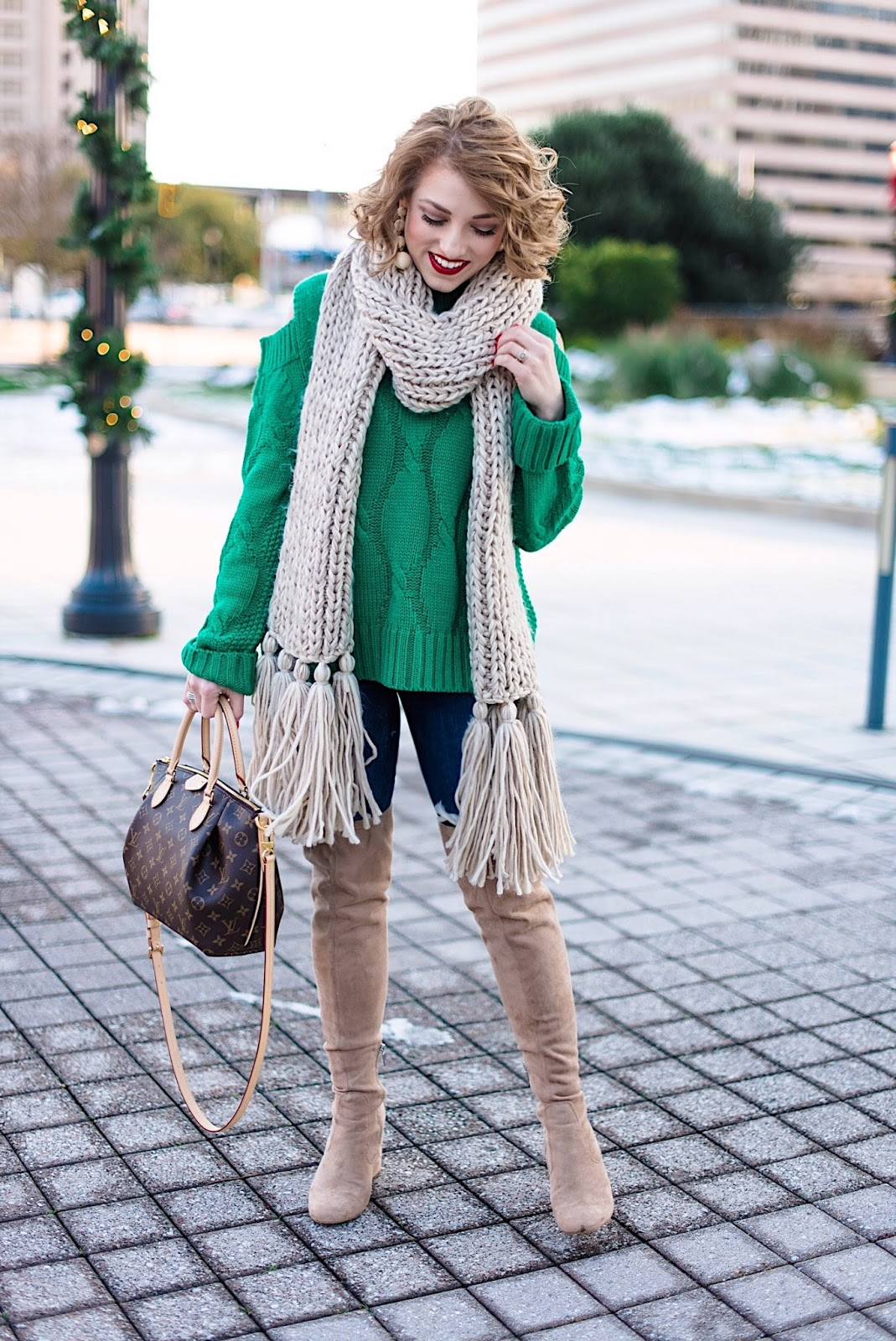 Winter Fashion: Cable Knit Sweater & OTK Boots - Something Delightful Blog