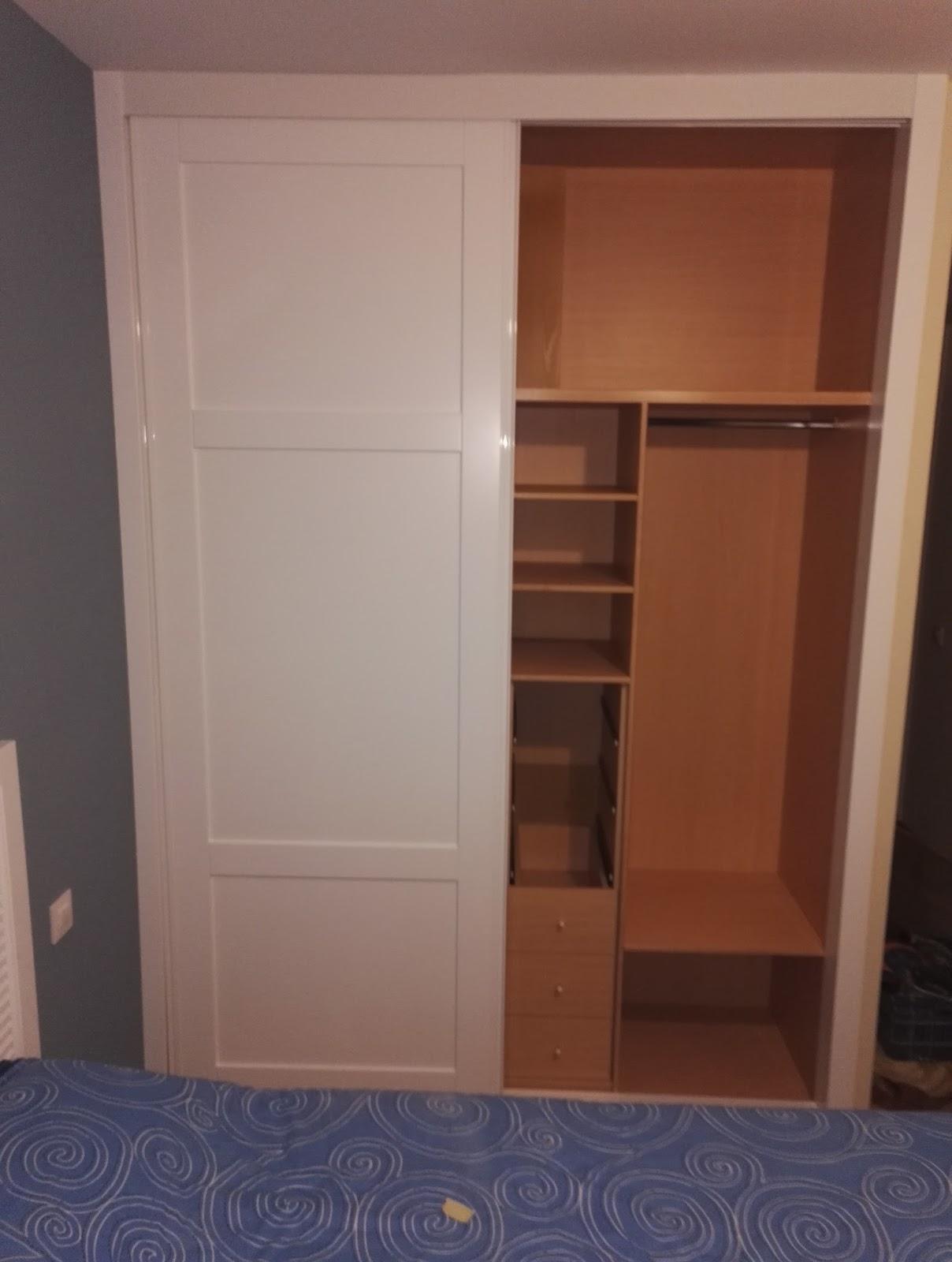 Muebles a medida armario con puertas corredera lacado en - Muebles con puertas correderas ...