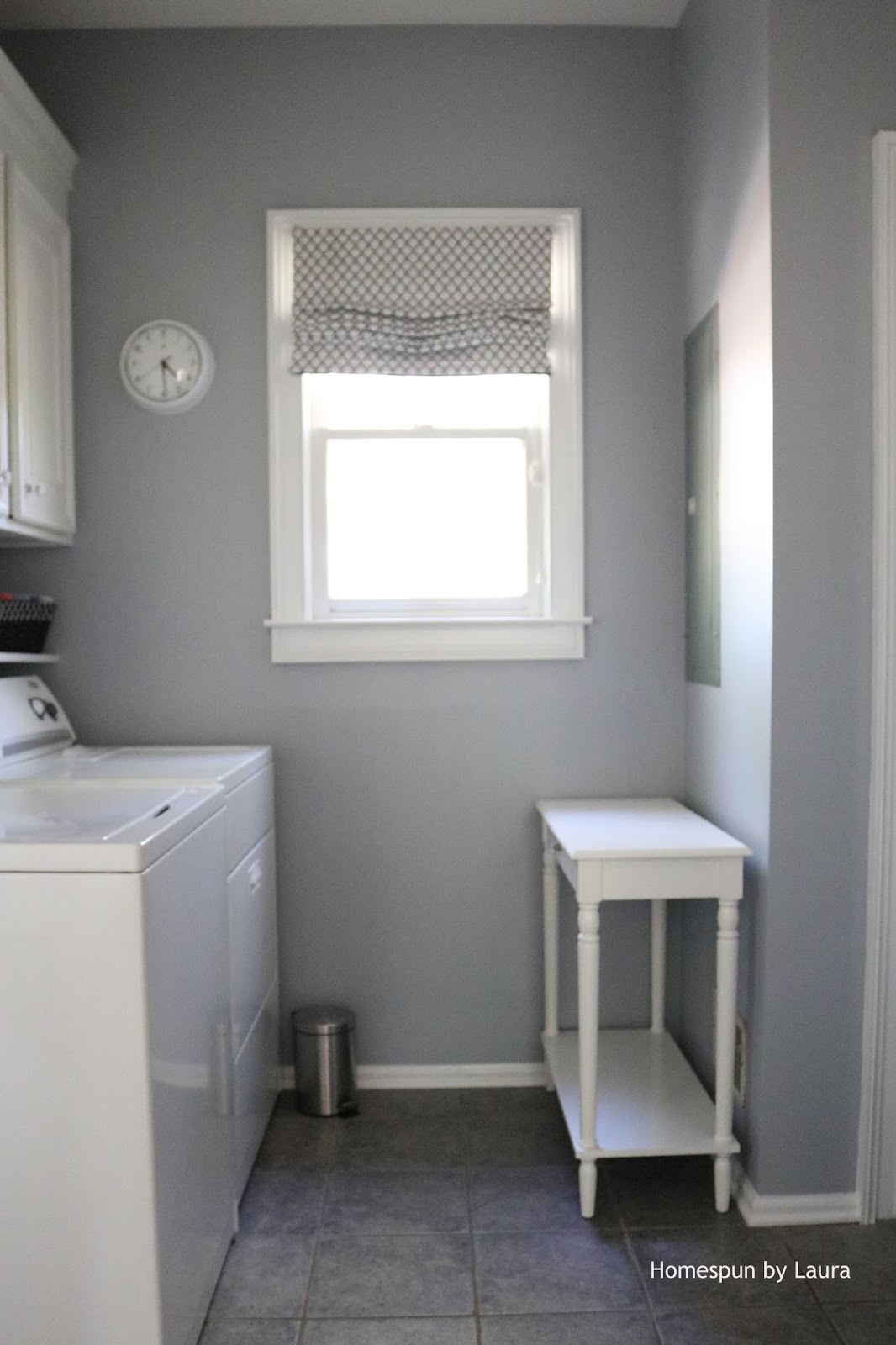 ... Homespun by Laura DIY Laundry Drying Rack and Fuse Box Cover