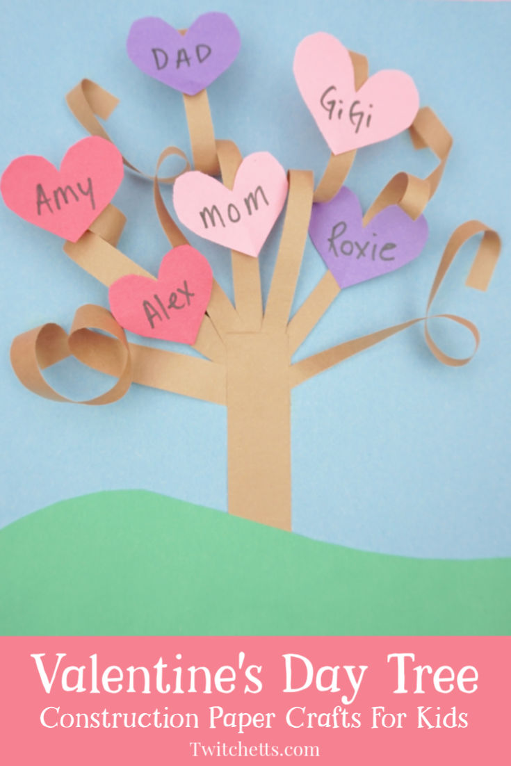 How To Make A Fun 3d Valentine S Day Paper Tree Malvorlage