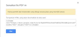 Cara Memasukan File PDF Kedalam Postingan Blog