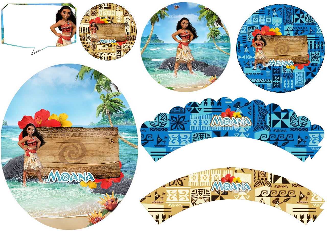 photo about Printable Moana named Moana: Totally free Printable Cupcake Toppers and Wrappers. - Oh My