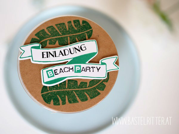 Pop of Paradise Bannereien Beach Party Stampin up Bastelritter
