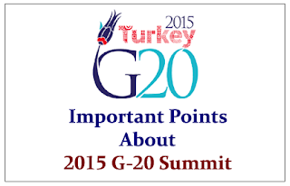 Important Points to know about 2015 G-20 Summit