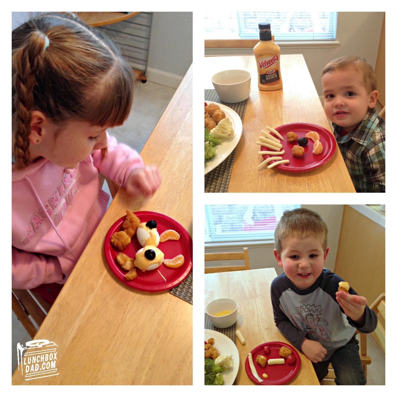 Kids eating Tyson Super Moments Super Kids Platter #SuperMoments #ad #cbias