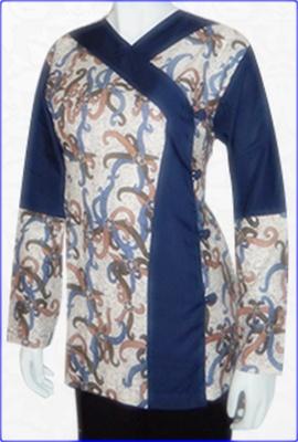 Model Baju Kurung Batik Kombinasi Polos Aktual Post