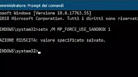 Attivare la sandbox per isolare l'antivirus Windows Defender