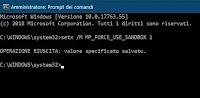 Attivare la sandbox per isolare l'antivirus Windows Defender
