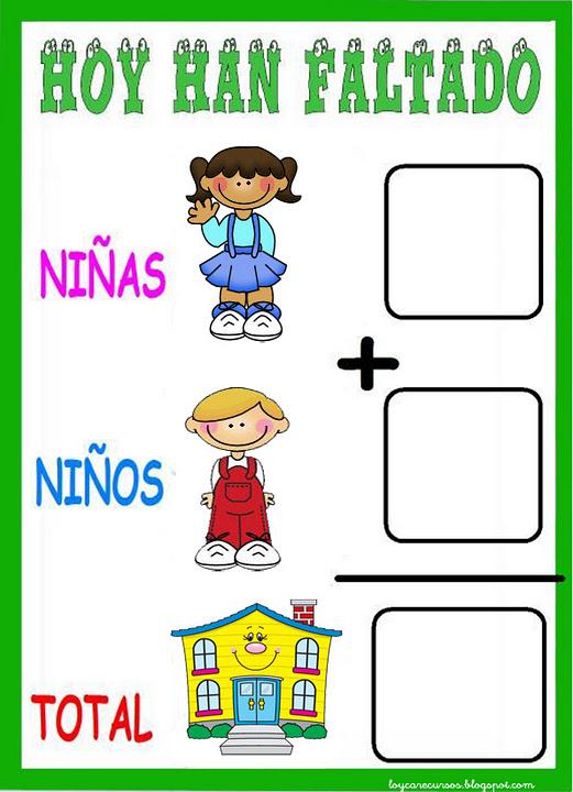 Material educativo para maestros cartel de asistencia - Perchas infantiles de pared ...