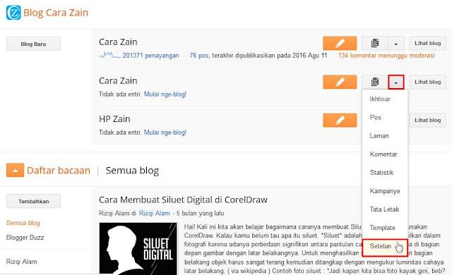 Cara Menghapus Blog Secara Permanen Di Blogger Terbaru