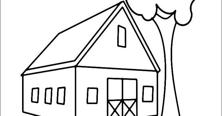 Barn Coloring Page ~ Child Coloring