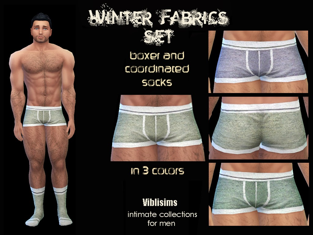 My Sims 4 Blog: Winter Fabrics Set. Boxer And Coordinated