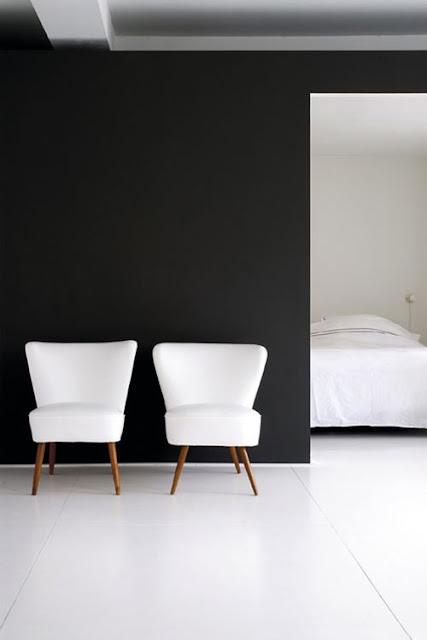 Blanco y negro geométrico