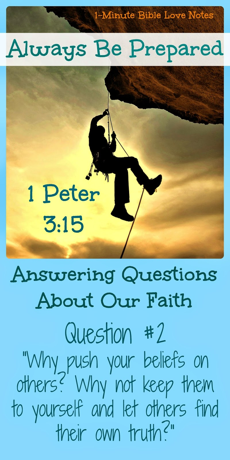 Why share your faith with others? Why not let others find their own truth?