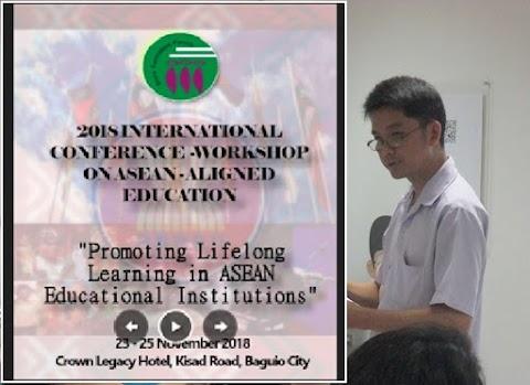 Mr. Rolando M. Tan presents paper at the GFF 2018 International Conference - Workshop