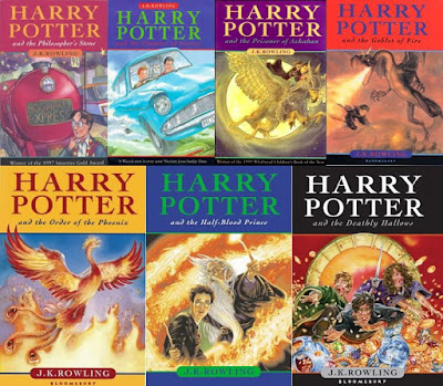 Τα εξώφυλλα των βιβλίων του Χάρι Πότερ