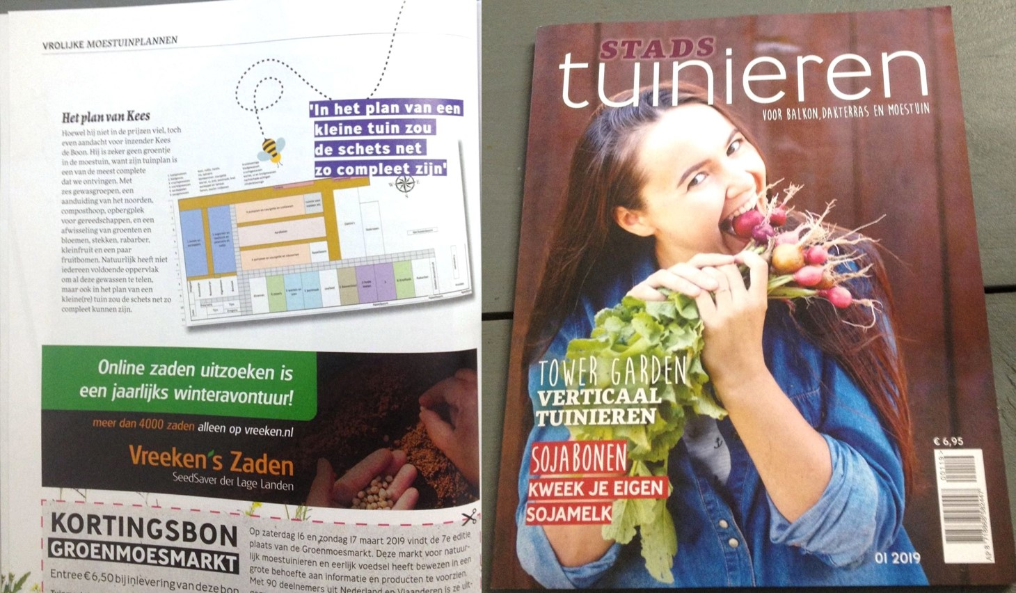 stadstuinieren magazine tuinplan moestuin