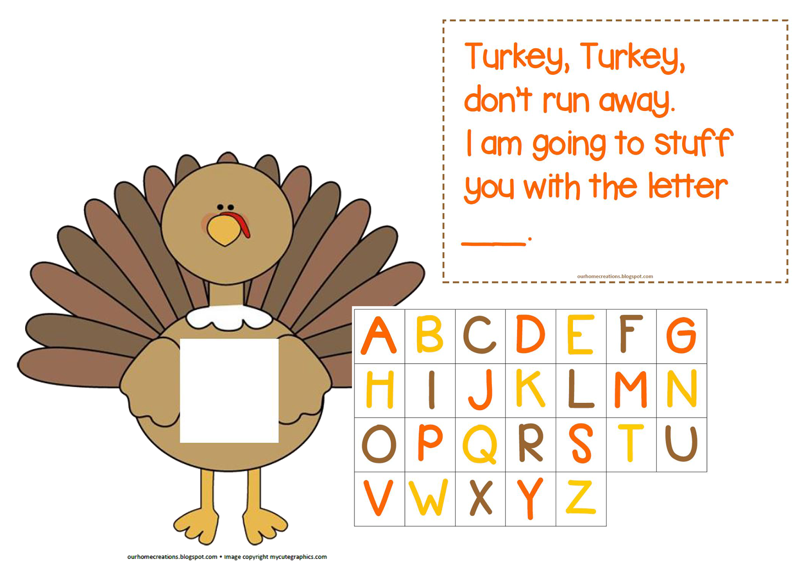 Ourhomecreations T Is For Turkey
