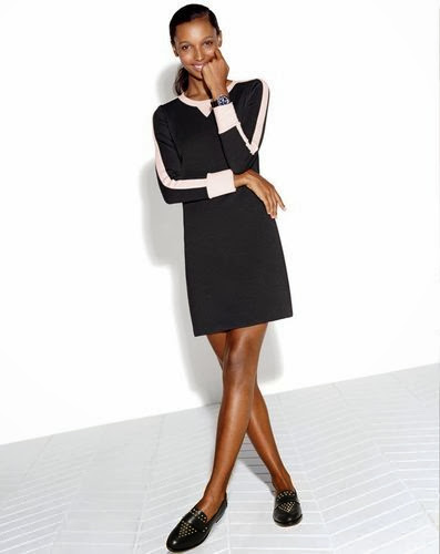 J.Crew stylish black and white sports luxe dress