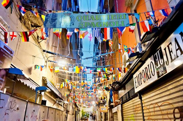 Região Quartieri Spagnoli em Nápoles